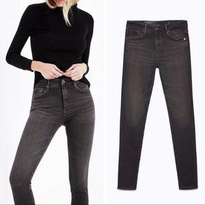 AG Adriano Goldschmied Grey Farrah High Rise Jeans